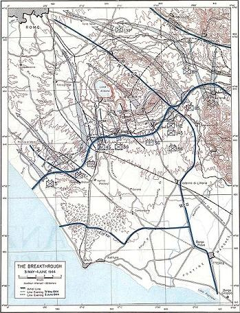 Battle of Anzio, the move on Rome