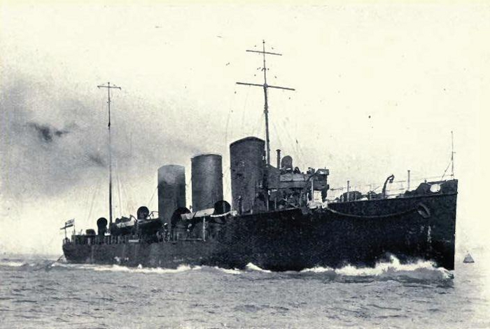 The destroyer, HMS Swift, completed in 1907
