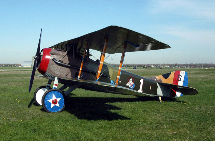 A Spad S.13 on display at the National Museum of the U.S. Air Force near Dayton, Ohio