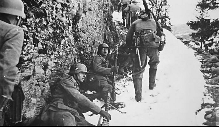 German forces near Valdres in Norway during Operation Weserübung